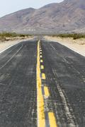 Stock Photo of heat haze on the calico road in the californian desert, barstow, california,