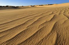 small erg or sand dunes near tehenadou, adrar n'ahnet, adrar ahnet, algeria,  - stock photo