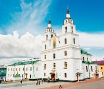 the cathedral of holy spirit in minsk - the main orthodox church of belarus - stock photo