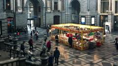 Antwerp Train Station Lobby, Belgium Stock Footage