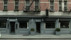 Closed West Village Restaurant. Closed New York Businesses. Stock Footage