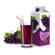 Grape juice set Stock Illustration