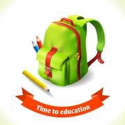 Backpack education icon Piirros