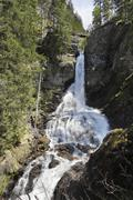 Large waterfall of the riesach creek, riesach falls, soelktaeler nature park, Kuvituskuvat