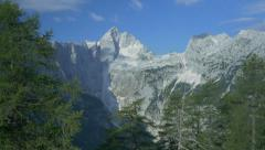 AERIAL: Hikers in gorgeous European Alps Stock Footage