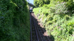 Lynton and lynmouth cliff railway in north devon england Stock Footage