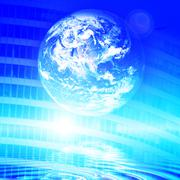 futuristic technology background. web, it, communication concepts - stock illustration