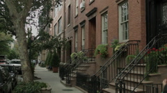 West Village apartments. Summer in the West Village. Stock Footage