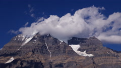 Clouds Over Mount Robson Time Lapse Part 1 - stock footage