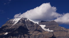 Clouds Over Mount Robson Time Lapse Part 2 Stock Footage