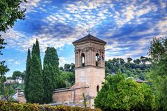 gallery alhambra granada andalusia spain - stock photo
