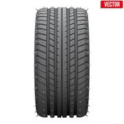 winter tires with metal spikes. - stock illustration