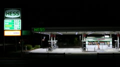 Hess gas station highway Stock Footage
