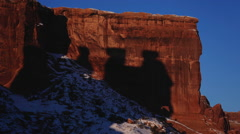 Three Gossips Shadows at Arches National Park Time Lapse Stock Footage