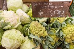 vegetables for sale at the market on campo de' fiori, rome, italy, europe - stock photo