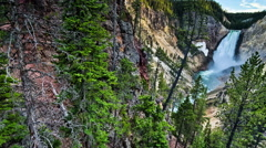 Lower Yellowstone falls, Yellostone National Park, Wyoming Stock Footage