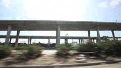Freeway driving in Los Angeles - stock footage