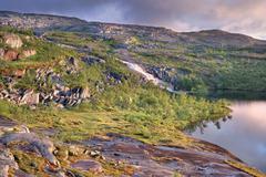 landscape in rago national park, nordland county, norway, scandinavia, europe - stock photo