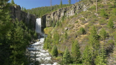 Tumalo Falls near Bend, Oregon Stock Footage