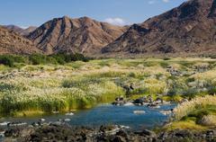 Oranje river, mountain desert landscape, richtersveld national park, northern Stock Photos