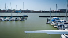Yachts Race Finish Line Stock Footage