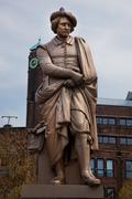The statue of rembrandt in amsterdam Stock Photos