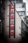Casino sing on the building Stock Photos