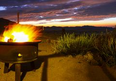 Fireplace at the eagles nest chalet, klein-aus vista, namibia, africa Stock Photos
