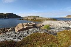 Coastal landscape, barents sea, russia, arctic Kuvituskuvat