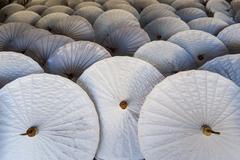 Handmade paper umbrellas, bo sang, chiang mai, northern thailand, thailand, a Stock Photos