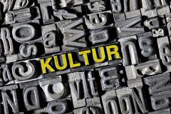 "old lead letters, lettering ""kultur"", german for ""culture"" - stock photo"