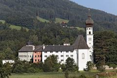 Stock Photo of former hoeglwoerth monastery, municipality of anger, rupertiwinkel, upper bav