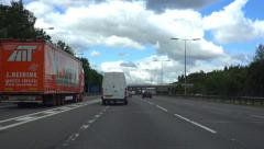 POV Driving Shot M25 Motorway (timelapse) - London, Heathrow, England - stock footage