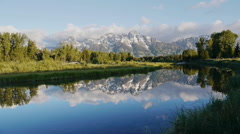 Sunrise, Grand Teton National Park, Wyoming Stock Footage