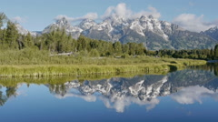 Sunrise, Grand Teton National Park, Wyoming - stock footage