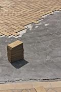 Stock Photo of outdoor ceramic paving