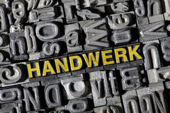 old letters forming the word handwerk, german for craft - stock photo