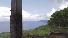 Dolly shot - guanshan mountain platform Stock Footage