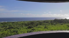 Pan -most southern point from observation deck Stock Footage