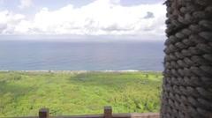 Dolly shot ocean facing - guanshan mountain platform Stock Footage