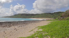 Kenting beach with some tourists Stock Footage