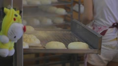 Close-up - steamed buns being steamed Stock Footage