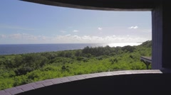 180 degree pan -most southern point from observation deck Stock Footage