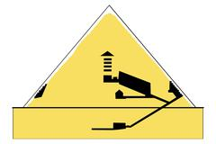 Stock Illustration of cheops pyramid, schematic representation