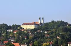 Stock Photo of benedictine abbey of schweiklberg, vilshofen, lower bavaria, bavaria, germany