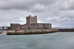 Stock Photo of carrickfergus castle, a norman castle, county antrim, northern ireland, great