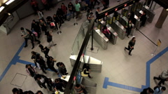 Passangers at the Paulista Subway Station - Sao Paulo Metro - Sao Paulo, Brazil Stock Footage
