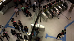 Passangers at the Paulista Subway Station - Sao Paulo Metro - Brazil Stock Footage
