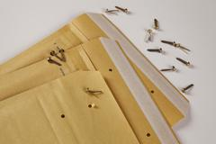 Mailing bag, padded, din a 5, brass fasteners Stock Photos
