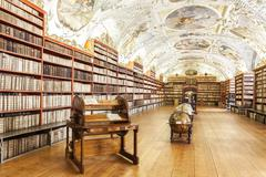 The theological hall in strahov monastery in prague Stock Photos